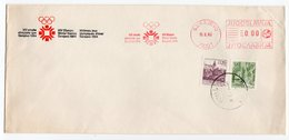 1983 YUGOSLAVIA, SARAJEVO, 15th WINTER OLYMPIC GAMES, COVER NOT USED, WITH FLAME - 1945-1992 Socialist Federal Republic Of Yugoslavia
