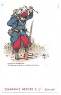Illustrateur Guillaume Publicité Champagne Mercier Epernay N° 9 - Guillaume