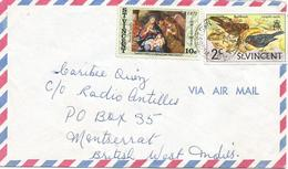 St Vincent 1972 Kingstown Lesser Antillean Bullfinch Loxigilla Noctis Madonna Painting Pietro Da Cortona Cover - St.-Vincent En De Grenadines
