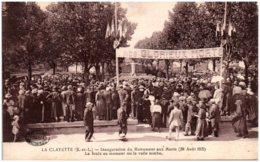 71 LA CLAYETTE - Inauguration Du Monument Aux Morts (28 Aout 1921) - France