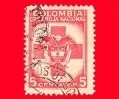 COLOMBIA - Usato - 1948 - Croce Rossa - Stemmi Araldici - Red Cross - 5 - Colombia