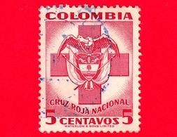 COLOMBIA - Usato - 1951 - Croce Rossa - Stemmi Araldici - Red Cross - 5 =042 - Colombia