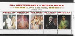 PALAU Nº 857 AL 861 - 2. Weltkrieg