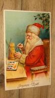 Carte Postale Pere Noel, Santa Claus,  Carte Gaufrée  …... … PHI.......2955 - Santa Claus