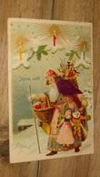 Carte Postale Pere Noel, Santa Claus,  Carte Gaufrée  …... … PHI.......2958 - Santa Claus