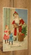 Carte Postale Pere Noel, Santa Claus,  Carte Gaufrée  …... … PHI.......2959 - Santa Claus