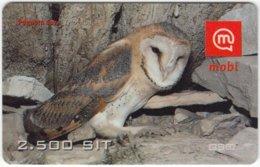SLOVENIA B-416 Prepaid Mobi - Animal, Bird, Barn Owl - Used - Slovenia