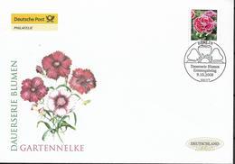 2008 Deutschland  Allem.Fed.  Mi. 2694 FDC Freimarke: Blumen  Gartennelke (Dianthus Caryophyllus) - FDC: Enveloppes