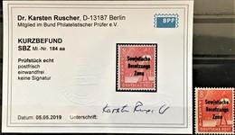 """SBZ - Mi. 184 """"aa """" - Postfrisch - Kurzbefund  Dr. K. Ruscher BPP - ME 160 !! - Zone Soviétique"""