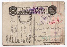WWII  1942, PWO, CENSORED , ITALY TO BELGRADE - 1900-44 Vittorio Emanuele III