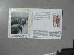 Enveloppe   1994   Le Massacre D'Ascq Nuit Des Rameaux 1944  Cachet  Villeneuve D'Ascq Nord - Postmark Collection (Covers)