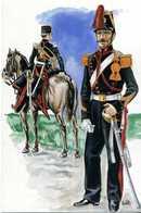 Cartolina CORPI COMBATTENTI A VICENZA NEL 1848 / ARTIGLIERIA ROMANA - Uniformi
