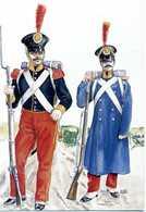Cartolina CORPI COMBATTENTI A VICENZA NEL 1848 / BRIGATA ESTERA PONTIFICIA (SVIZZERI) - Uniformi