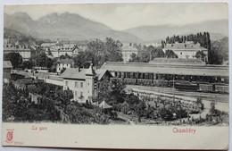 CPA 73 Chambéry Vue Peu Courante La Gare Trains Voie Ferrée - Chambery