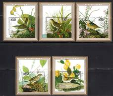 NIUE - 5 Blocs N°83/7 ** (1985)  J.J Audubon - OISEAUX - Niue