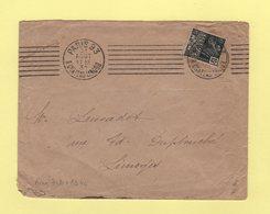 Krag - Paris 93 - 7 Lignes Droites Egales + Bloc Dateur 4 Lignes - 1931 - Marcophilie (Lettres)