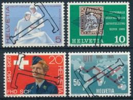 Zumstein 428-431 / Michel 808-811 Serie Mit TAX-Stempel - Suisse