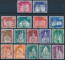 Zumstein 412-427, Michel802, 831-832, 862-865, 878-883 Serie Mit TAX Stempel - Suisse