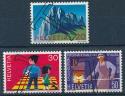 Zumstein 468-470 / Michel 911-913 Serie Mit TAX-Stempel - Suisse