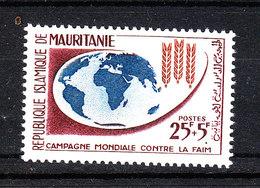 Mauritania   - 1963. Contro La Fame. Spighe Su Globo TerrestreAgainst Hunger. Spikes On Earth Globe. MNH - Against Starve