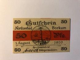 Allemagne Notgeld Borkum 50 Pfennig - [ 3] 1918-1933 : Weimar Republic