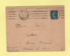 Krag - Paris 26 R. Du Faubg St Denis - 4 Lignes Droites Inegales + Bloc Dateur 4 Lignes Sans Points - 1923 - Marcophilie (Lettres)