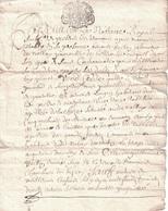 RHONE - GENERALITE DE LYON - TARIF 1 SOL - 3 MARS 1677 - PERIODE LOUIS XIV. - Seals Of Generality