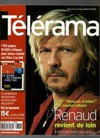 Télérama Avec Boucan D'enfer Son Nouveau Album Renaud Revient De Loin - Entretien Avec Gaspard Noé De 2002 - Fernsehen