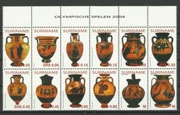 SURINAM SURINAME 2004 ATHENS OLMPIC GAMES,TROPHIES SHEET MNH - Zomer 2004: Athene