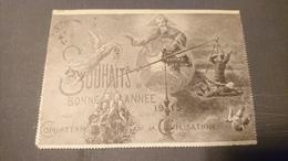 Carte Lettre Souhait 1915 Combattants De La Civilisation - Guerre 1914-18
