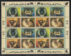 A 30 ) Free Shipping // UNO UN New York 2007** / MNH - Squirrel Monkeys, Ring-tailed Lemur, Collared Mangabey - New York – UN Headquarters