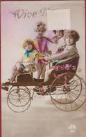 Fantaisie Carte Fantasie Kind Enfant Kinderen Enfants Children Kwistax Bicyclette Voiture Fietswagen - Portraits