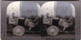 KEYSTONE VIEW COMPANY-PANAMA HATS, TACUBQA ECUADOR. CIRCA 1900 Cm 18x8.5 - BLEUP - Stereoscopio