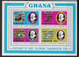 Ghana - 1977 - Bloc Feuillet BF N°Yv. 68 - Graham Bell / Prince Charles - Neuf Luxe ** / MNH / Postfrisch - Ghana (1957-...)