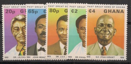 Ghana - 1980 - N°Yv. 652 à 656 - Personnages Célèbres - Neuf Luxe ** / MNH / Postfrisch - Ghana (1957-...)