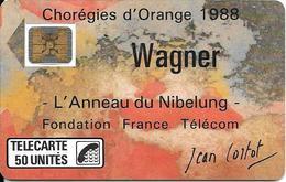 CARTE-PUBLIC-F23A-50U-SC4 On-1988-WAGNER-V°N°6Pe 102901--UTILISE-TBE - Frankrijk