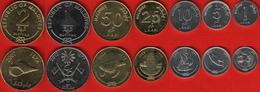 Maldives Set Of 7 Coins: 1 Laari - 2 Rufiyaa 2007-2012 UNC - Maldivas