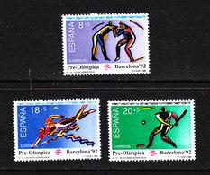 Spagna - 1990. Pre-Olimpiadi Barcellona. Lotta, Nuoto, Pelota. Pre-Olympics Barcelona. Wrestle, Swimming, Pelota. MNH - Estate 1992: Barcellona