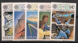 Ghana - 1983 - N°Yv. 786 à 790 - Année Des Communications - Neuf Luxe ** / MNH / Postfrisch - Ghana (1957-...)