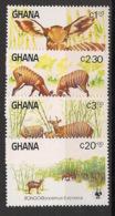 Ghana - 1984 - N°Yv. 850 à 853 - Bongo / WWF - Neuf Luxe ** / MNH / Postfrisch - W.W.F.