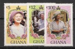 Ghana - 1985 - N°Yv. 870 à 872 - Queen Elisabeth I - Neuf Luxe ** / MNH / Postfrisch - Ghana (1957-...)
