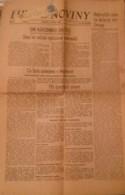 NEWS PAPER CZECHOSLOVAKIA-CHAMBERLAIN/ROOSEVELT-PRE-WORLD WAR II,PRE-NAZI BLITZKRIEG,1938 PERIOD,USED - Books, Magazines, Comics