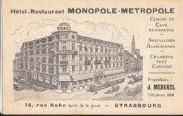67  Bas  Rhin  -  Strasbourg  -  Hotel  Restaurant  Monopole  Metropole - Strasbourg