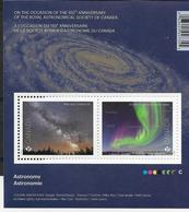CANADA 2018, ASTRONOMY, SHEETLET OF 2 STAMPS  Of MILKY WAY & Northern Lights - Blocks & Sheetlets