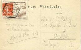 1909 PORT AVIATION Latham Sur Antoinette + Vignette Porte Timbre Au Verso Voyagée - Fliegertreffen