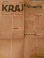 KRAJ-NEWS PAPER CZECHOSLOVAKIA-HITLER-PRE-WORLD WAR II,PRE-NAZI BLITZKRIEG,1938 PERIOD,USED - Books, Magazines, Comics