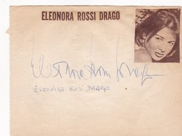 ELEONORA ROSSI DRAGO. ACTRIS ACTRESS SIGNED AUTOGRAPH CIRCA 1940s SUR SHEET Cm 15.5x12 - BLEUP - Autografi