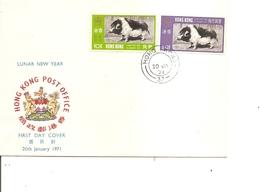 Hong-Kong - Cochons ( FDC De 1971 à Voir) - Hong Kong (...-1997)