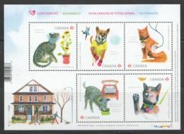 2015  Love Your Pet Souvenir Sheet Cats And Dogs  Sc 2829 ** MNH - 1952-.... Reign Of Elizabeth II