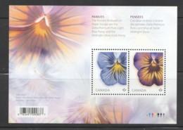 2015  Pansies - Flowers Souvenir Sheet Of 2 Sc 2809 ** MNH - 1952-.... Reign Of Elizabeth II